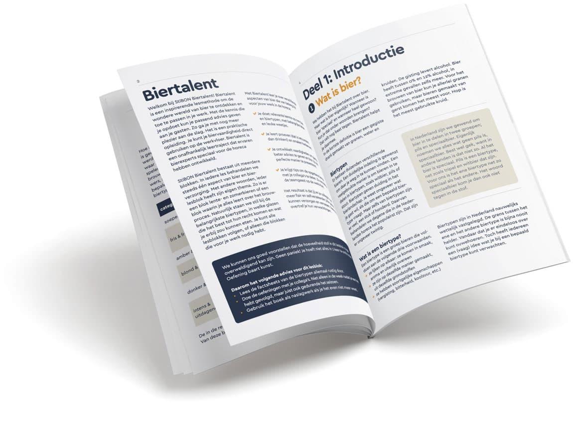 Pagina's van het lesboekje